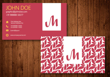 Swirl Business Card Template Vector - Free vector #328841