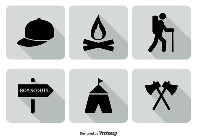 Boy Scout Icon Set - vector gratuit #328891