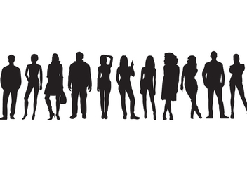 Vector Silhouettes - Free vector #329331