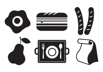 Vector Illustration of Symbols of School Lunch - vector gratuit #329361
