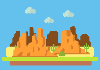 Vector Illustration of Grand Canyon - бесплатный vector #329391