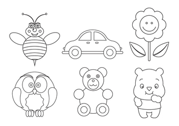 Set of Vector Symbols for Coloring - vector gratuit #329401