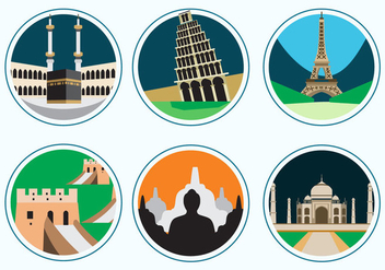 7 Wonders of the World - vector gratuit #329691