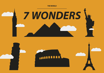 THE SEVEN WONDERS VECTOR - Free vector #329701