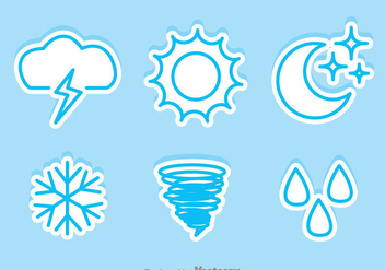 Weather Sticker Icons - vector #329741 gratis