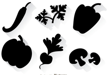 Vegetable Black Icons - Kostenloses vector #329801