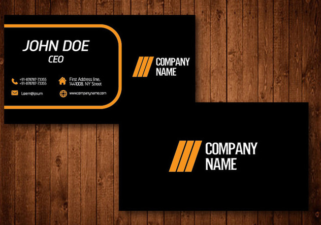 Creative Business Card - Free vector #329811