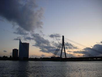 Suspension Bridge in Riga, Latvia - Free image #329941
