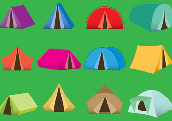Camping Tents - Free vector #330061