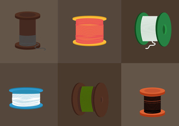 Vector Cable Spool - Free vector #330091