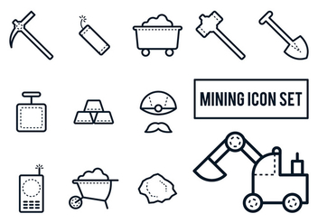 Mining Icon Set - Free vector #330121