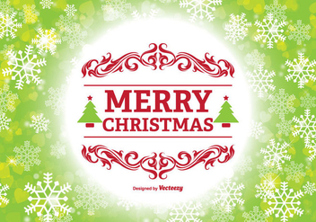 Merry Christmas Illustration - Free vector #330131