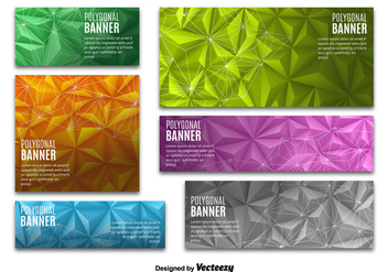 Colorful Polygonal banners - Free vector #330151