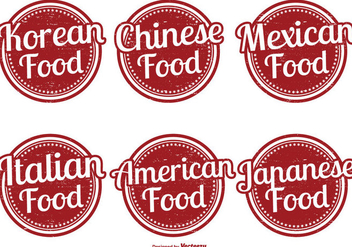 Assorted Food Label Set - Free vector #330161