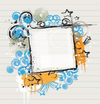 Abstract Grungy Frame Paper Banner - vector #330201 gratis