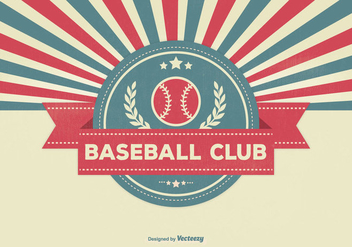 Retro Style Baseball Club Illustration - vector gratuit #330481