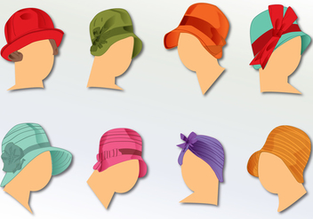 1930 Ladies Hats - vector gratuit #330581
