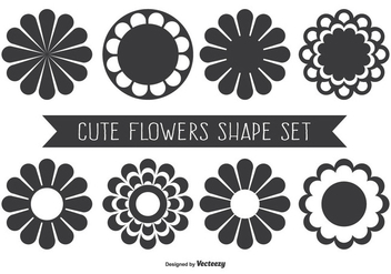 Cute Assorted Flower Shapes - Free vector #330611