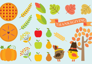 Thanksgiving Icons - Free vector #330741
