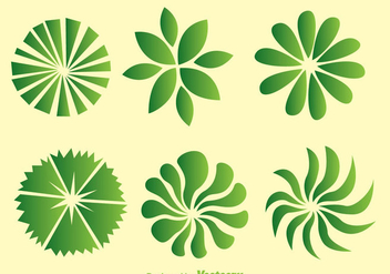 Green Trees Top View - vector gratuit #330791