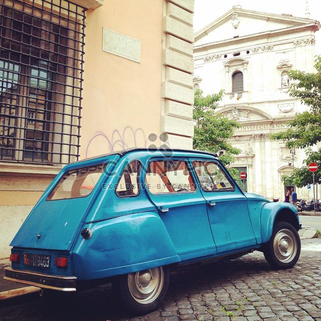 Blue Citroen car on street of Rome - бесплатный image #331061