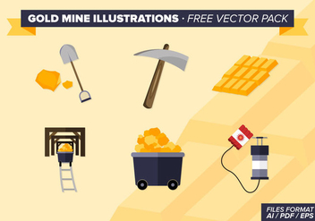 Gold Mine Illustrations Free Vector Pack - vector gratuit #331141