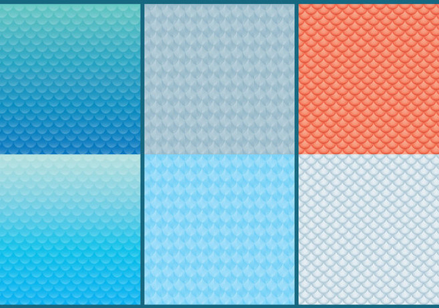 Fish Scale Patterns - vector gratuit #331151