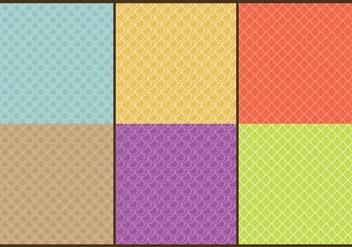 Fish Scale Patterns Line - Free vector #331161