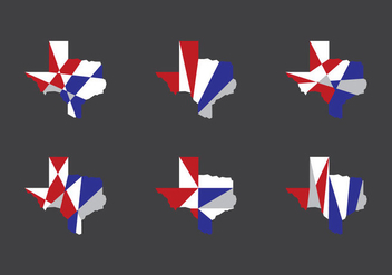 Texas Map Vector Icons #6 - Free vector #331381