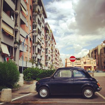 Old blue Fiat 500 car - image #331501 gratis