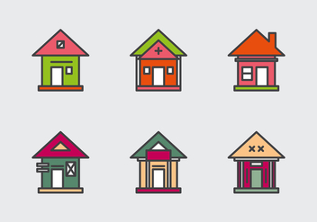 Free Townhomes Vector Icons #1 - бесплатный vector #331511