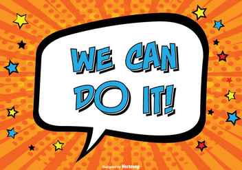 Comic Style ''We Can Do It'' Illustration - vector #331541 gratis