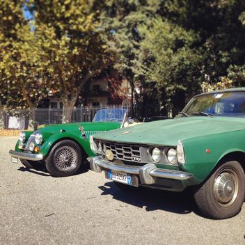 Retro green cars - Free image #331611