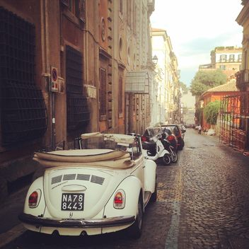 Old cars in the street of Rome, Italy - Free image #331771