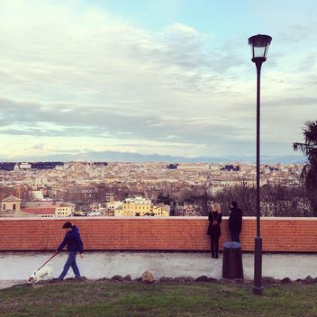 People in park with view on Rome - Free image #332021