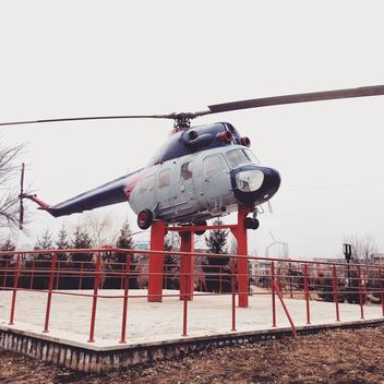 Gray helicopter in Moldova - Free image #332151