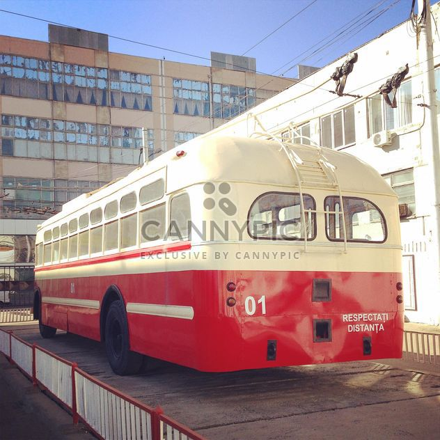 Red trolley bus - Free image #332211