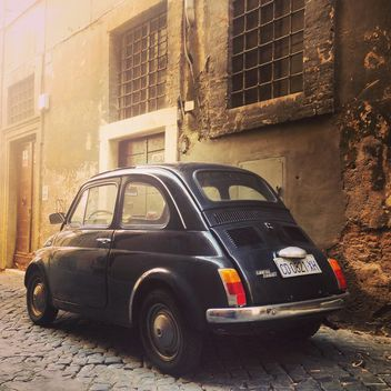 Retro black Fiat 500 car - image gratuit #332281