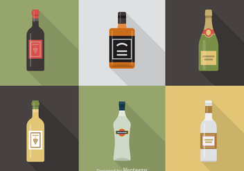 Free Alcoholic Beverages Vector Icons - vector gratuit #332571