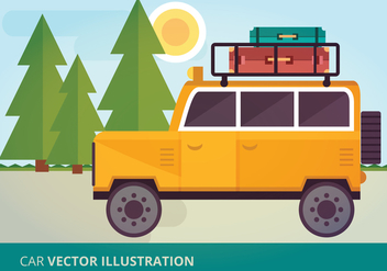 Car Vector Illustration - Kostenloses vector #332591