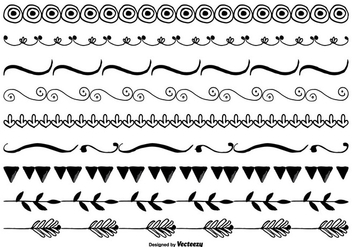 Cute Hand Drawn Border Set - vector gratuit #332621