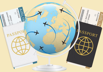 Tickets And Passports - vector gratuit #332631