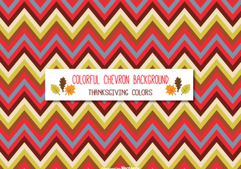Colorful Thanksgiving Colored Chevron Background - Kostenloses vector #332651