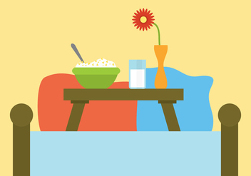 Vector Still Life of Breakfast in Bed - Free vector #332691