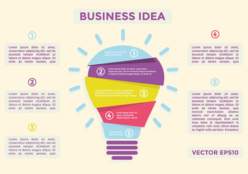 Free Flat Business Idea Vector - Kostenloses vector #332701