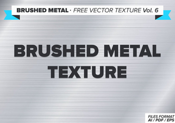 Brushed Metal Free Vector Texture Vol. 6 - vector #332971 gratis