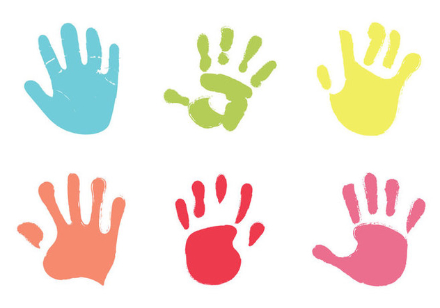 Free Baby Hand Print Vector Illustration - Free vector #333001