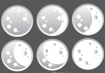 Big Moon Icons - Free vector #333031