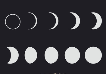 Lunar Phases - Kostenloses vector #333041