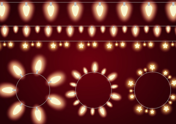 Glowing Light String Vectors - vector gratuit #333051